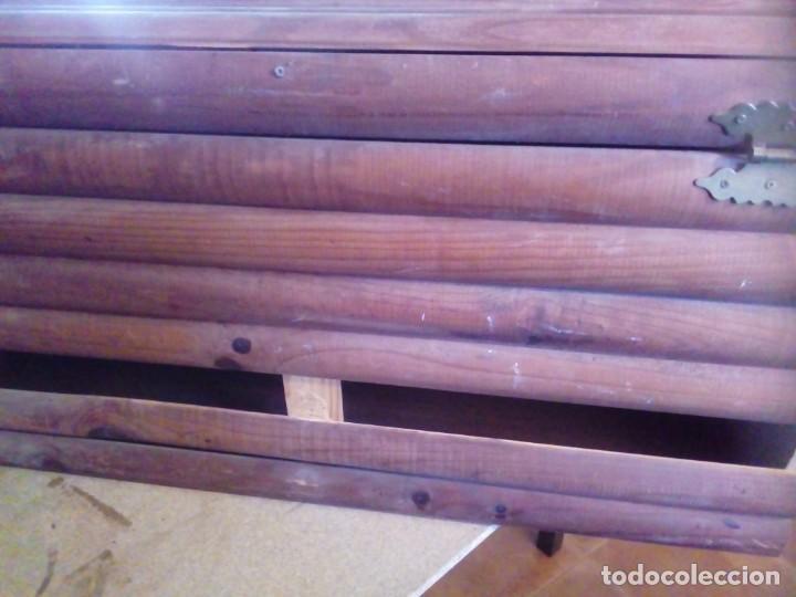 Antigüedades: BAUL ARCA DE MADERA - Foto 8 - 163550598