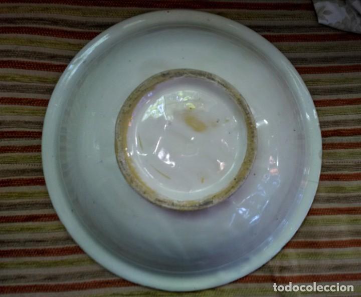 Antigüedades: Jofaina y jarra aguamanil palanganero de ceramica muy antigua - Foto 4 - 163551606
