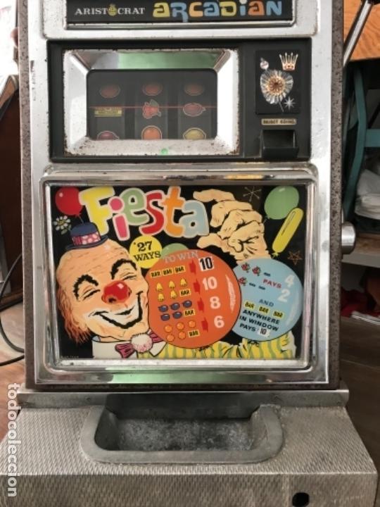Antigüedades: Tragaperras Aristocrat Arcadian 65 Fiesta Las Vegas. Original años 1950-60s - Foto 3 - 112025175