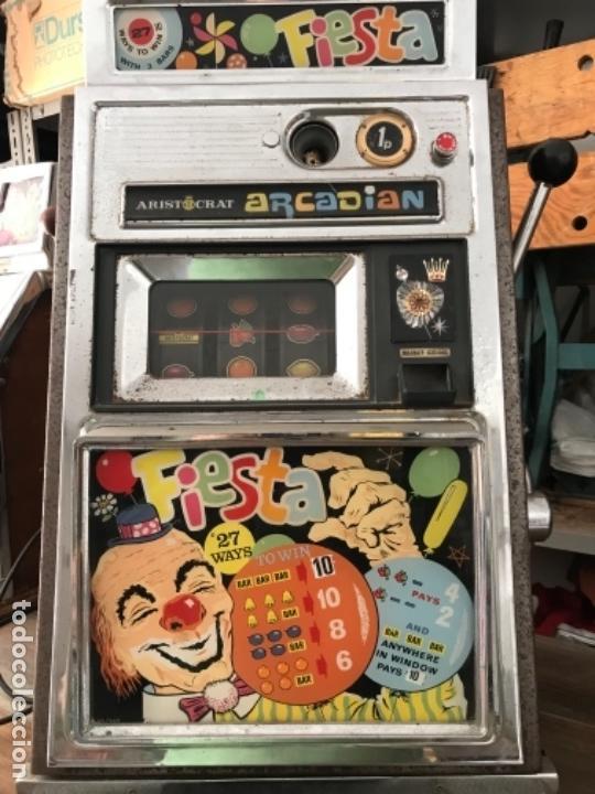 Antigüedades: Tragaperras Aristocrat Arcadian 65 Fiesta Las Vegas. Original años 1950-60s - Foto 4 - 112025175