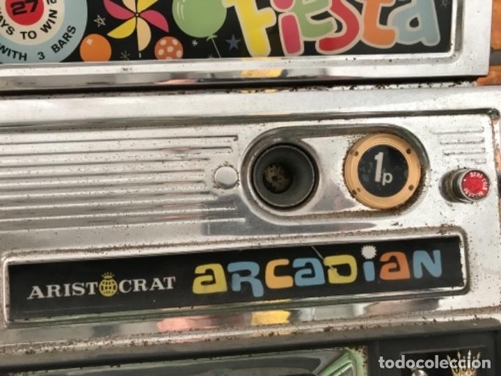 Antigüedades: Tragaperras Aristocrat Arcadian 65 Fiesta Las Vegas. Original años 1950-60s - Foto 5 - 112025175