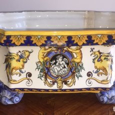 Antigüedades: ANTIGUA Y PRECIOSA JARDINERA FRANCESA GIEN SIGLO XIX. Lote 163565430