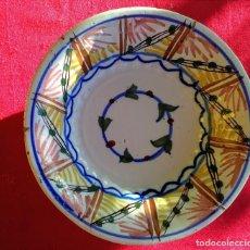 Antigüedades: PLATO ANTIGUO DE CERÁMICA DE TRIANA. Lote 163575414
