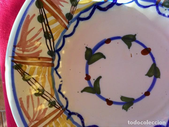 Antigüedades: Plato antiguo de cerámica de triana - Foto 2 - 163575414