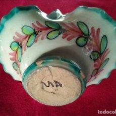 Antigüedades: CANASTO ANTIGUO DE CERÁMICA DE TALAVERA. Lote 163579062