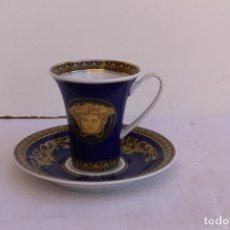 Antigüedades: JUEGO DE CAFE PORCELANA DE ROSENTHAL VERSACE.MEDUSA. Lote 163581398