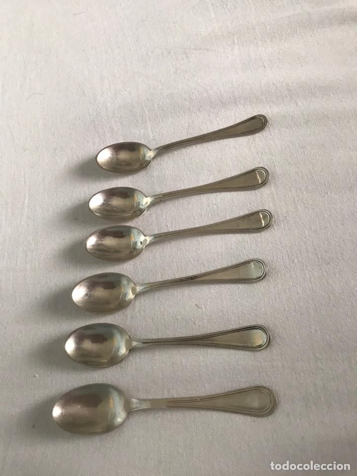 Antigüedades: Lote 6 cucharillas plata de ley cucharas cafe postre - Foto 2 - 174905489