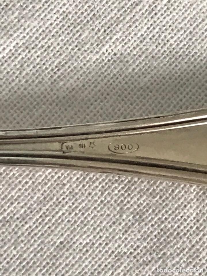 Antigüedades: Lote 6 cucharillas plata de ley cucharas cafe postre - Foto 4 - 174905489