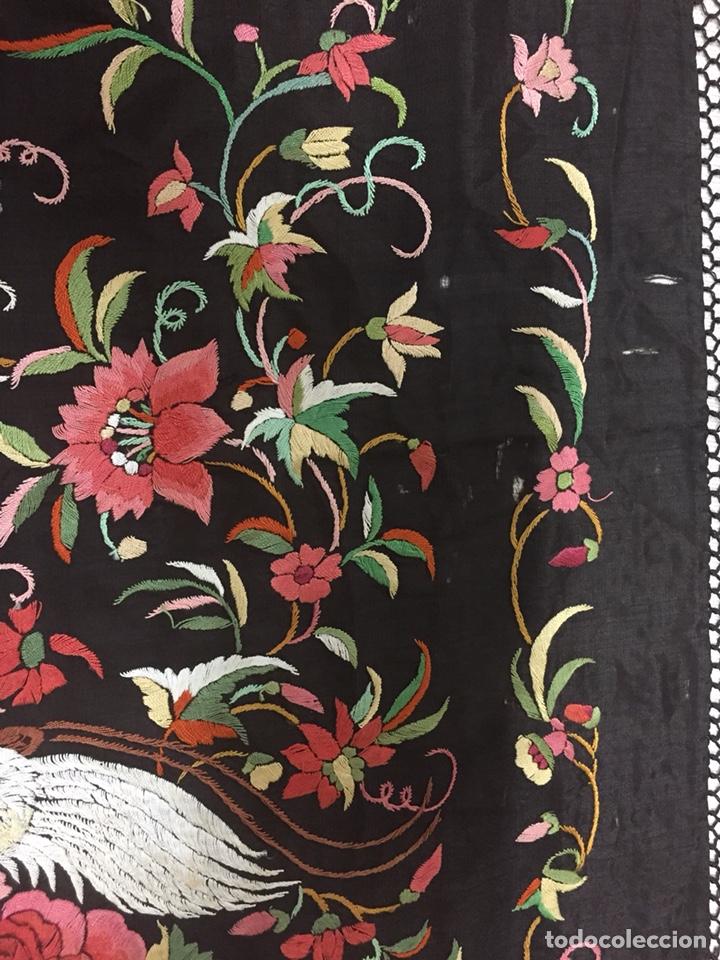 Antigüedades: Antiguo mantón de manila isabelino - Foto 17 - 126976987