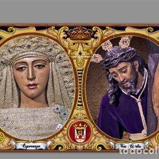 Antigüedades: AZULEJO 40X25 DE LOS TITULARES DE LA HERMANDAD DE TRIANA.. Lote 57282798