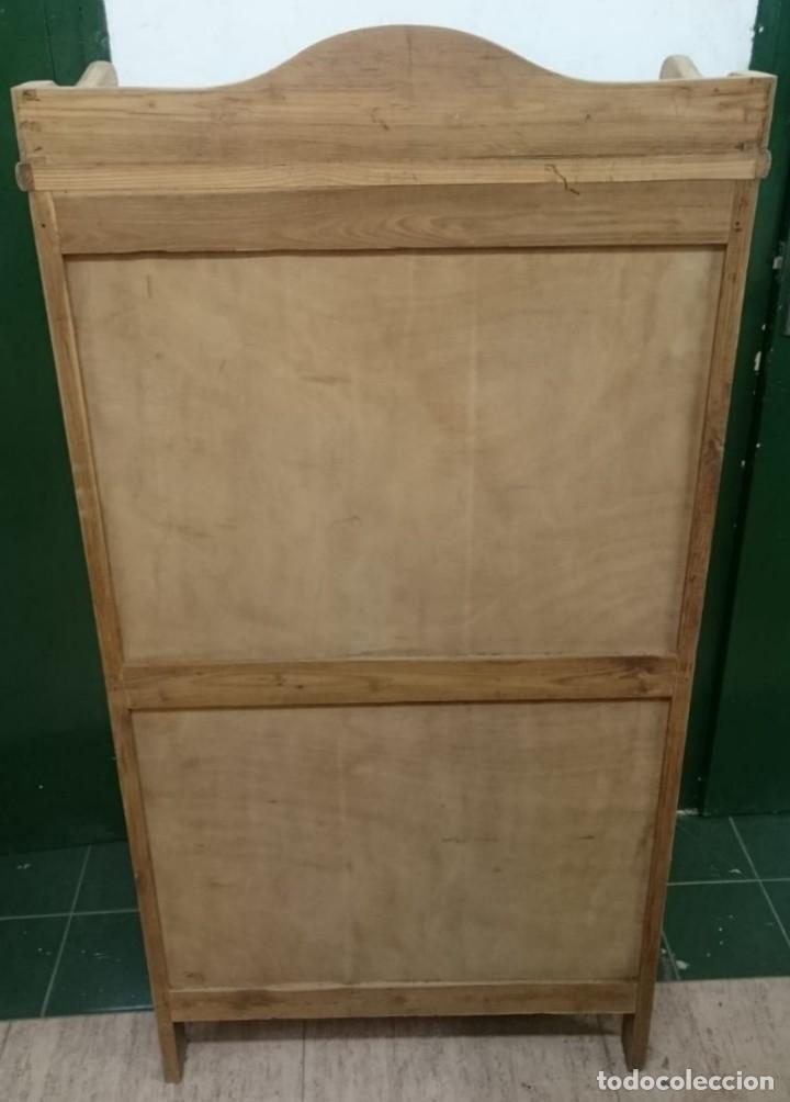 Antigüedades: mueble auxiliar, estantería, librería, decapado , en su madera natural roble y baldas de pino - Foto 4 - 163608034