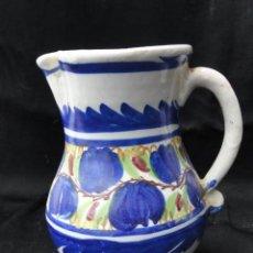 Antigüedades: BONITA JARRA DE PORCELANA DE MANISES.. Lote 163617110