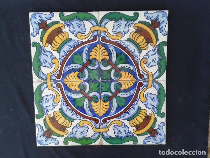 AZ-40A AZULEJOS MODERNISTAS ANTIGUOS (Antigüedades - Porcelanas y Cerámicas - Azulejos)