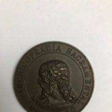 Antigüedades: SEMANA SANTA SEVILLA. MEDALLA CONMEMORATIVA 450 ANIVERSARIO FUNDACIONAL DE LA HERMANDAD DE PASIÓN. Lote 163618558