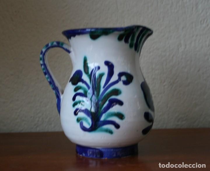 ANTIGUA JARRA DE BARRO CERAMICA ESMALTADA FAJALAUZA POPULAR GRANADA PINTADA A MANO (Antigüedades - Porcelanas y Cerámicas - Fajalauza)