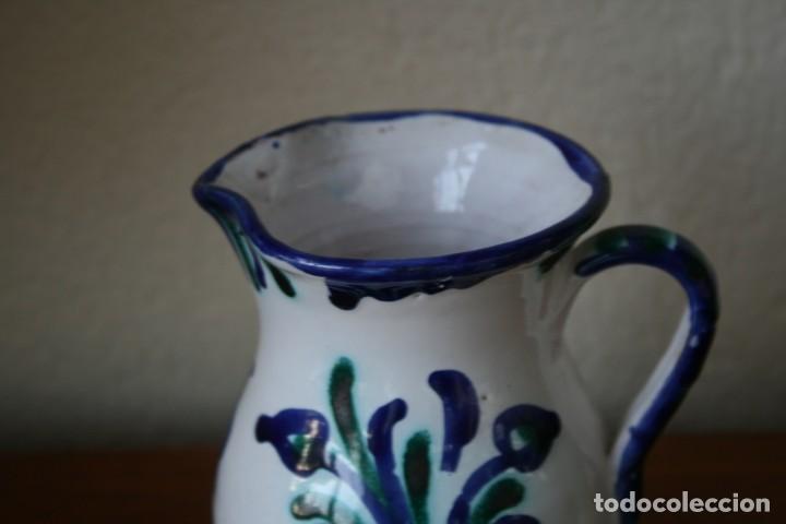 Antigüedades: ANTIGUA JARRA DE BARRO CERAMICA ESMALTADA FAJALAUZA POPULAR GRANADA PINTADA A MANO - Foto 4 - 163621010