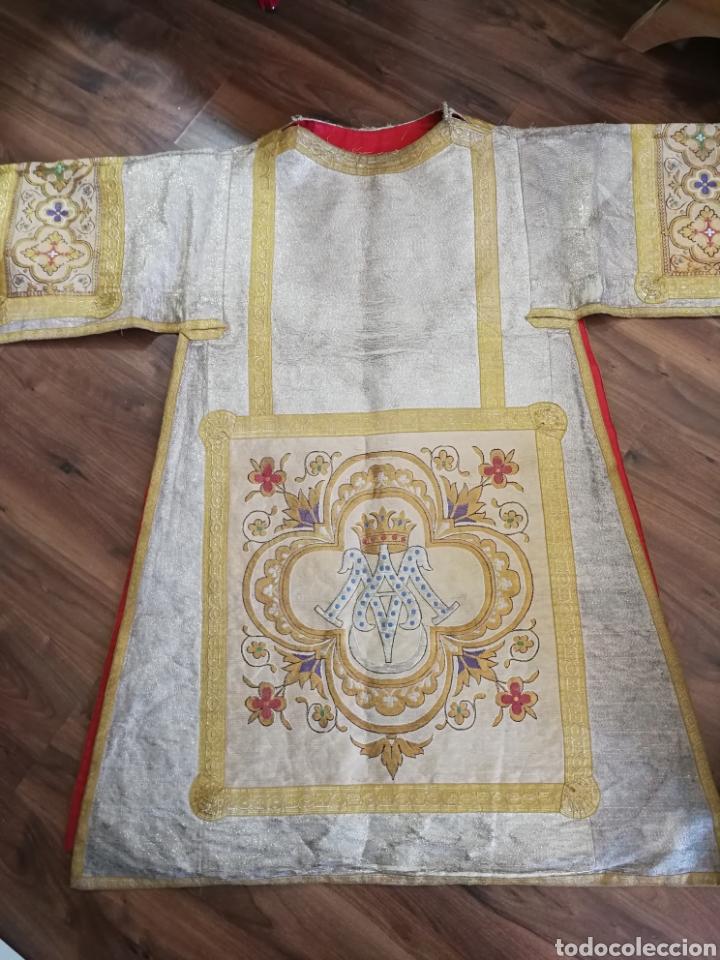 IMPRESIONANTE DALMATICA SIGLO XIX (Antigüedades - Religiosas - Casullas Antiguas)