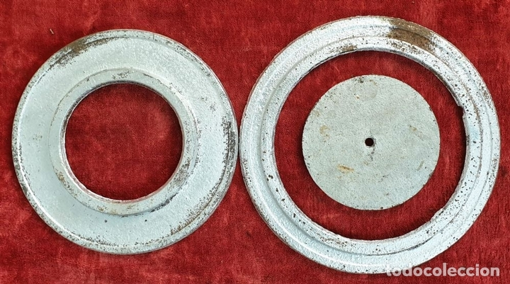Antigüedades: ESTUFA DE LEÑA. HIERRO DE FUNDICIÓN. MARCA VL. IRÚN. ESPAÑA. CIRCA 1920. - Foto 11 - 163659814