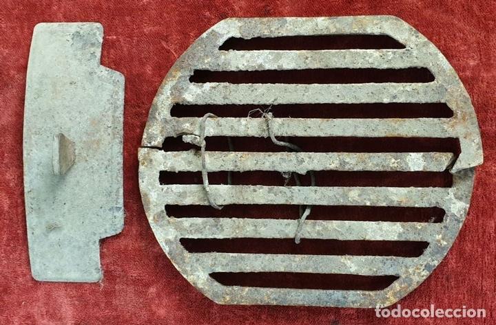 Antigüedades: ESTUFA DE LEÑA. HIERRO DE FUNDICIÓN. MARCA VL. IRÚN. ESPAÑA. CIRCA 1920. - Foto 12 - 163659814