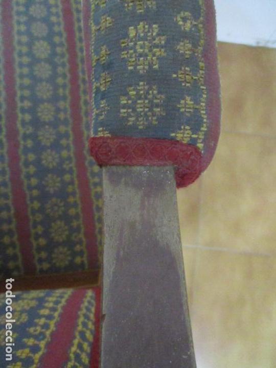 Antigüedades: Antiguo Sillón Isabelino - Madera de Caoba - Ideal Despacho, Decoración - S, XIX - Foto 8 - 163680938
