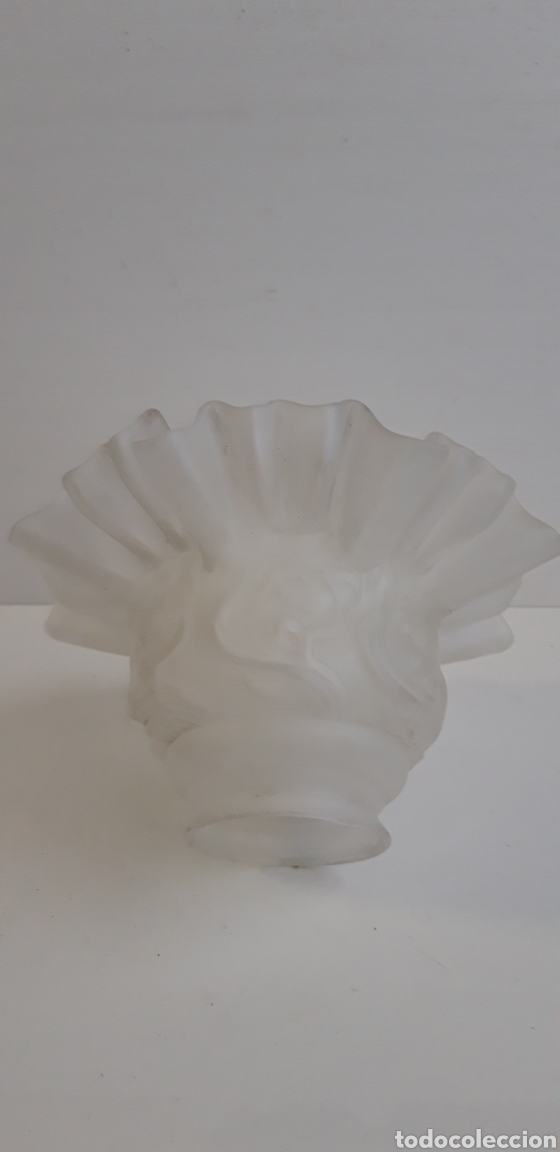 Antigüedades: Antigua tulipa de cristal mate - Foto 2 - 163696662