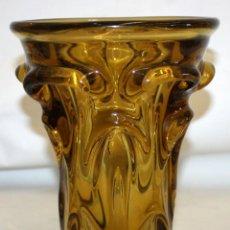 Antigüedades: DECORATIVO JARRON EN VIDRIO DE MURANO. AÑOS 50. Lote 163731610