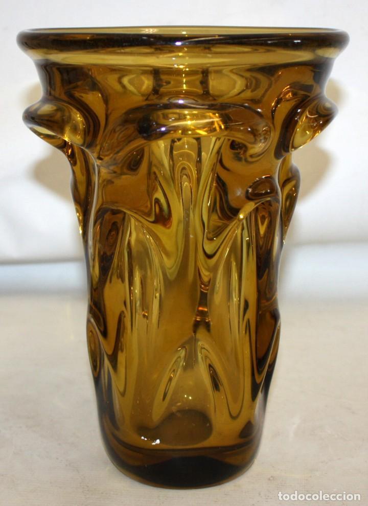 Antigüedades: DECORATIVO JARRON EN VIDRIO DE MURANO. AÑOS 50 - Foto 2 - 163731610