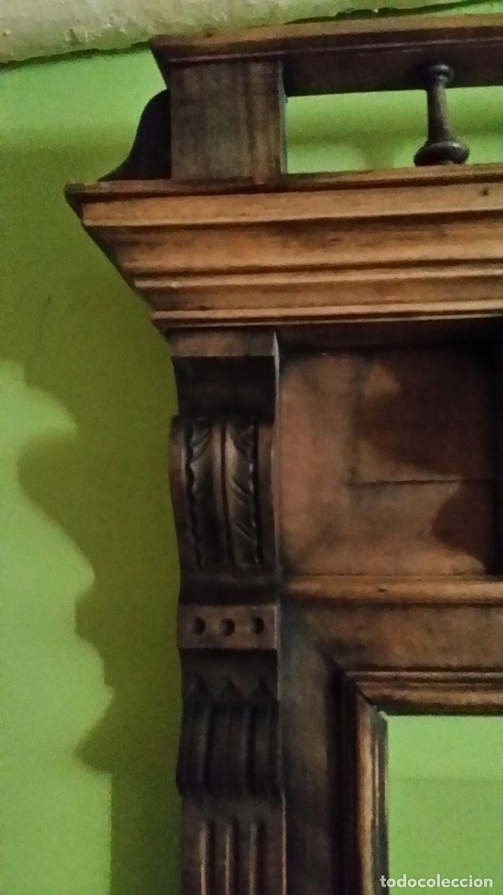 Antigüedades: Marco para espejo de grandes dimensiones. MUY ANTIGUO - Foto 4 - 163733210