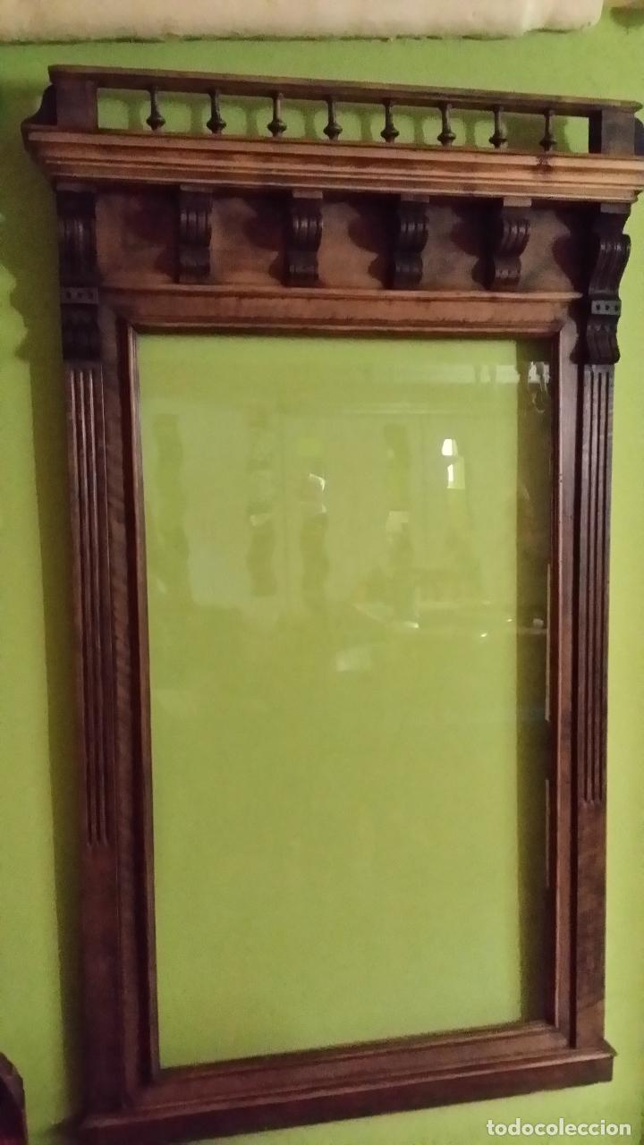 Antigüedades: Marco para espejo de grandes dimensiones. MUY ANTIGUO - Foto 7 - 163733210