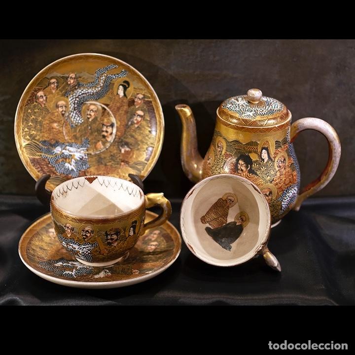 JUEGO DE TÉ JAPONÉS DE PORCELANA SATSUMA / SATSUMA PORCELAIN JAPANESE TEA SET (Antigüedades - Porcelana y Cerámica - Japón)
