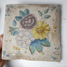 Antigüedades: PRECIOSO GRAN AZULEJO ANTIGUO SXVII. Lote 163796478