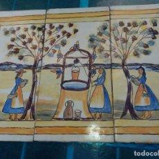 Antigüedades: CONJUNTO DE 6 BALDOSAS, AZULEJOS, RACHOLAS CATALANAS DEL SIGLO XIX PARA ENMARCAR.. Lote 163805566