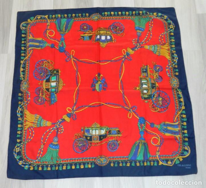 GIL DE LOSNE PARIS ANTIGUO PAÑUELO (Antigüedades - Moda - Pañuelos Antiguos)