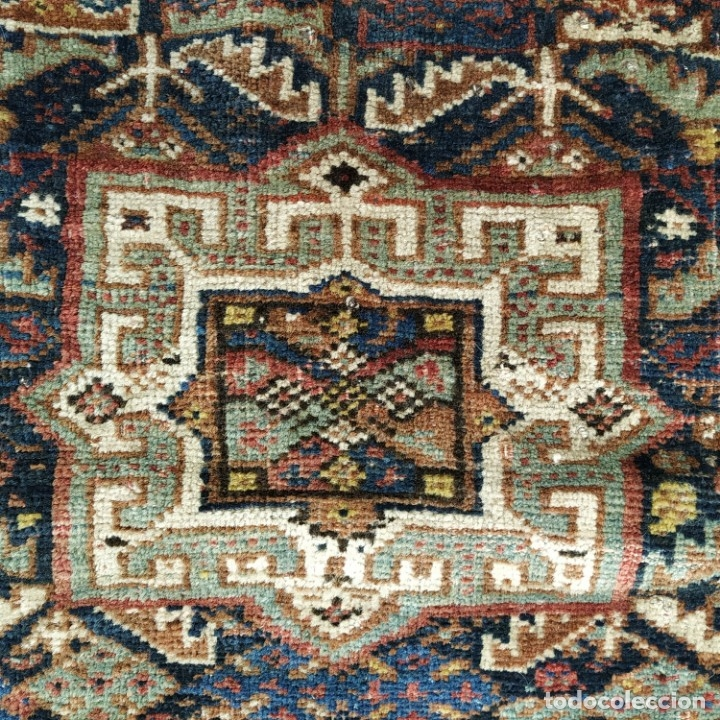 Antigüedades: ALFORJA KHAMSEH. LANA ANUDADA A MANO. ORIENTE MEDIO FIN SIGLO XIX - PRINCIPIO XX - Foto 18 - 163855618