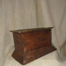 Antigüedades - ANTIGUO COFRE ALACENA CAJA DE MADERA SIGLO XVIII - 163860132