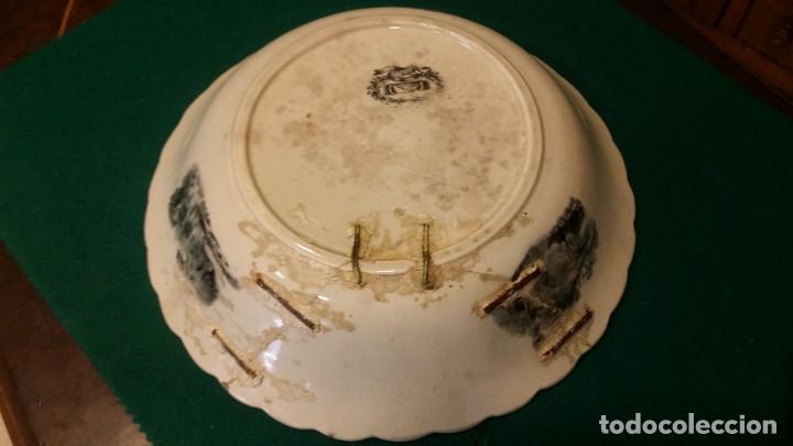 Antigüedades: BONITA FUENTE DE CARTAGENA LAÑADA SIGLO XIX - Foto 3 - 163873786