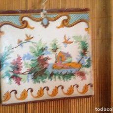 Antiquités: AZULEJO VALENCIANO,CON ALAMBRE PARA COLGAR. Lote 163896154