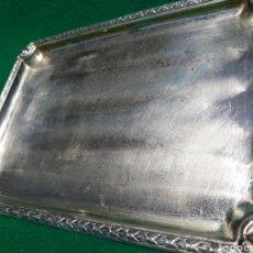 Antigüedades: BANDEJITA VACIA BOLSILLOS CREO QUE DE ALPACA ANTIGUA. Lote 163942114