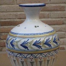 Antigüedades: TINAJA EN CERAMICA PINTADA Y VIDRIADA DE TALAVERA DE LA REINA ( TOLEDO ) FIRMADA.. Lote 163956430