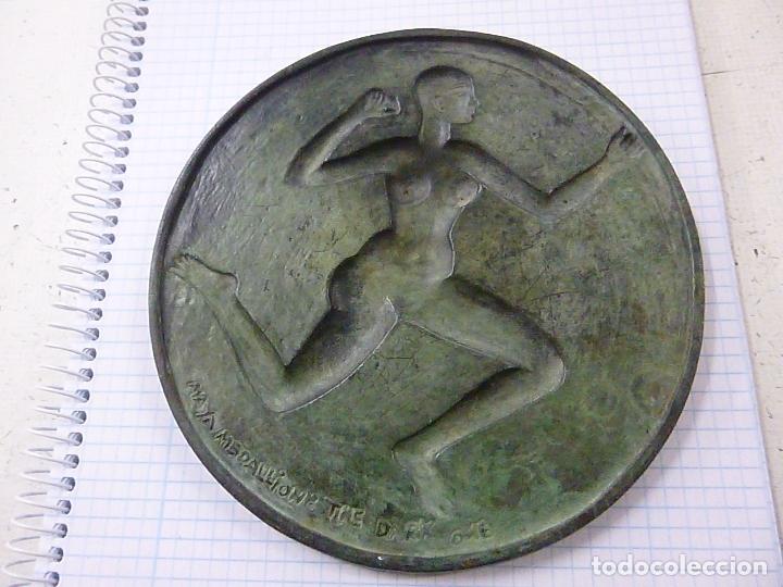 Antigüedades: Maya Medallion – The Dark One By: Dhruva Mistry, 1988 -13 CENTIMETROS -287 GRAMOS - N - Foto 2 - 163957934