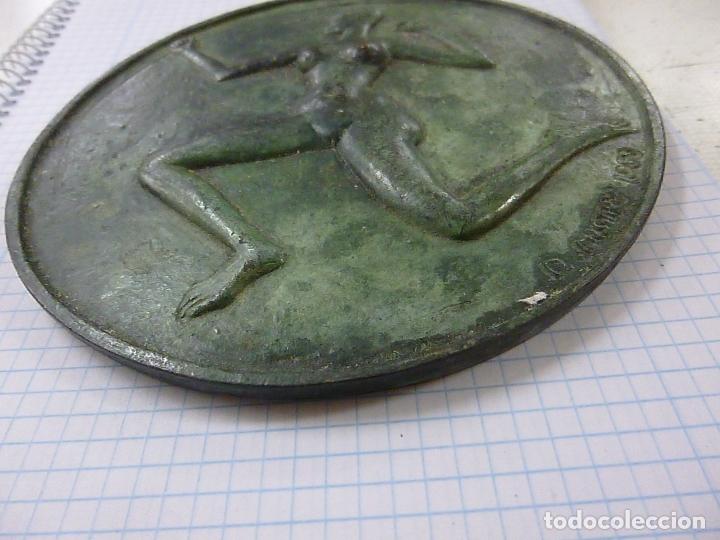 Antigüedades: Maya Medallion – The Dark One By: Dhruva Mistry, 1988 -13 CENTIMETROS -287 GRAMOS - N - Foto 3 - 163957934