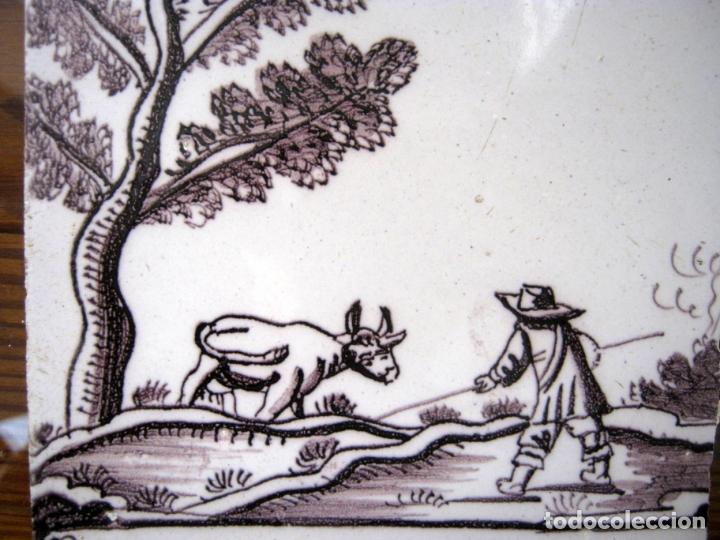 Antigüedades: lote azulejos MUY BELLOS s.XVII y XVIII - Foto 2 - 163969630