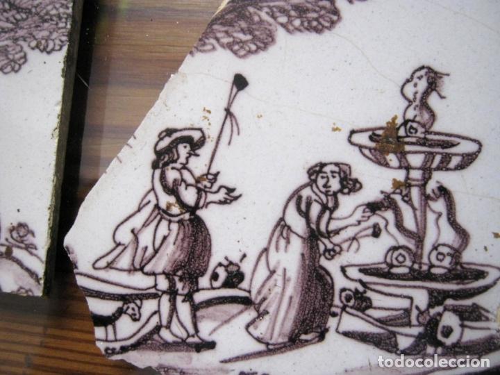 Antigüedades: lote azulejos MUY BELLOS s.XVII y XVIII - Foto 3 - 163969630
