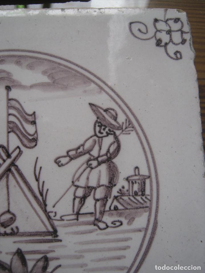 Antigüedades: lote azulejos MUY BELLOS s.XVII y XVIII - Foto 4 - 163969630