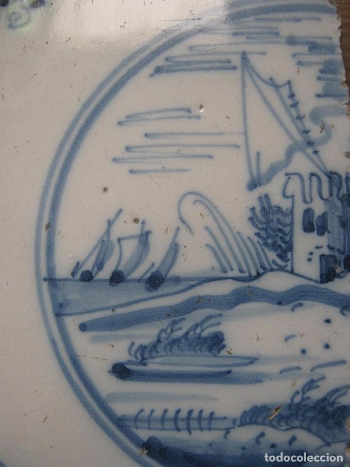 Antigüedades: lote azulejos MUY BELLOS s.XVII y XVIII - Foto 5 - 163969630