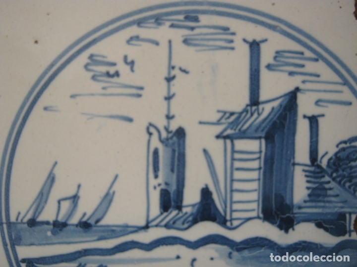 Antigüedades: lote azulejos MUY BELLOS s.XVII y XVIII - Foto 6 - 163969630