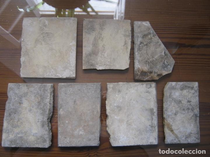 Antigüedades: lote azulejos MUY BELLOS s.XVII y XVIII - Foto 7 - 163969630