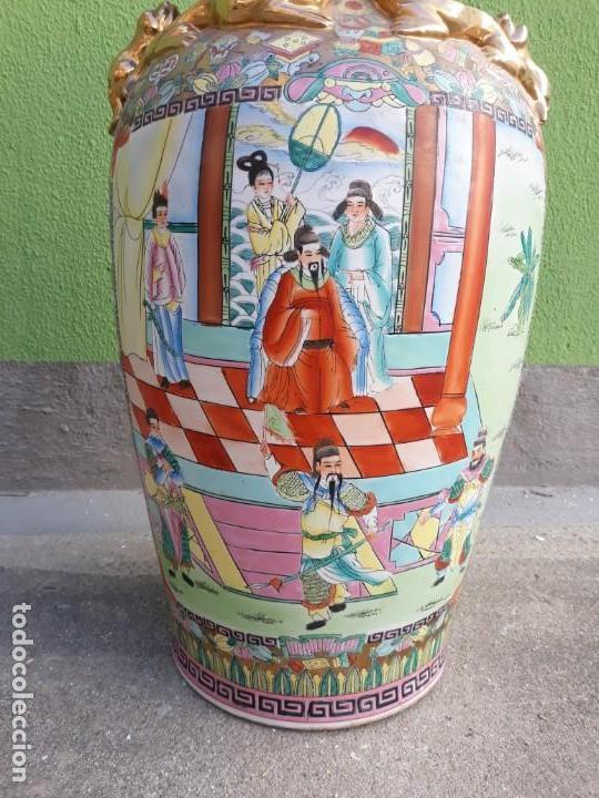 Antigüedades: Grande Jarrón Chino-Med Siglo XX - Foto 2 - 163971318