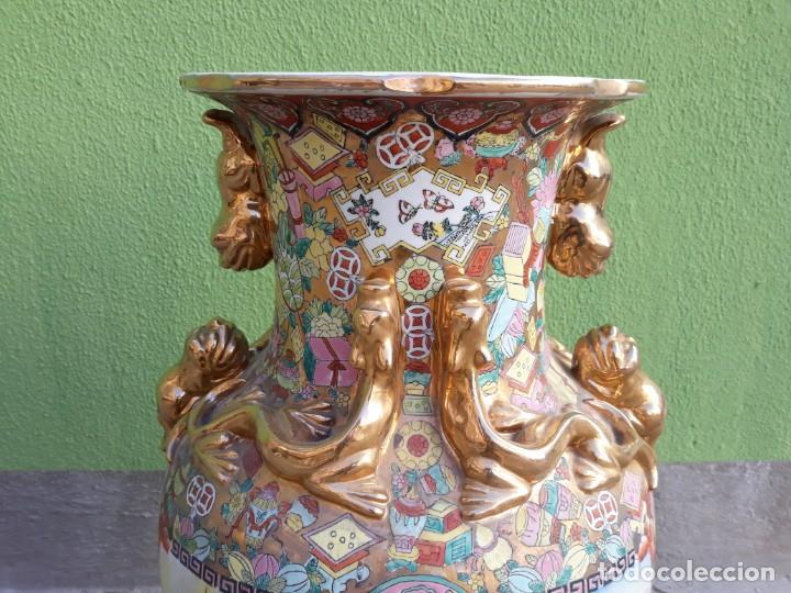 Antigüedades: Grande Jarrón Chino-Med Siglo XX - Foto 3 - 163971318
