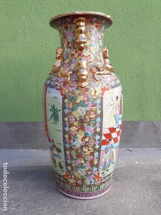 Antigüedades: Grande Jarrón Chino-Med Siglo XX - Foto 4 - 163971318